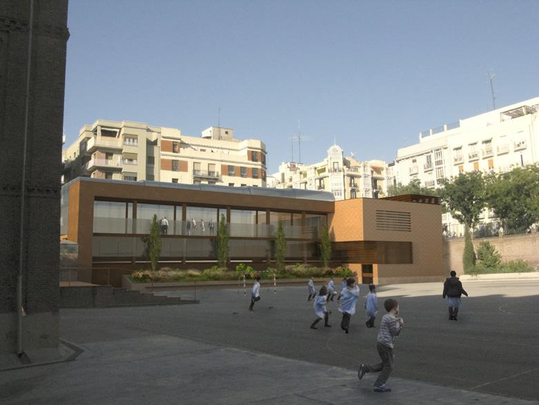 Polideportivo y Piscina en el colegio Nuestra Senora de Loreto 1