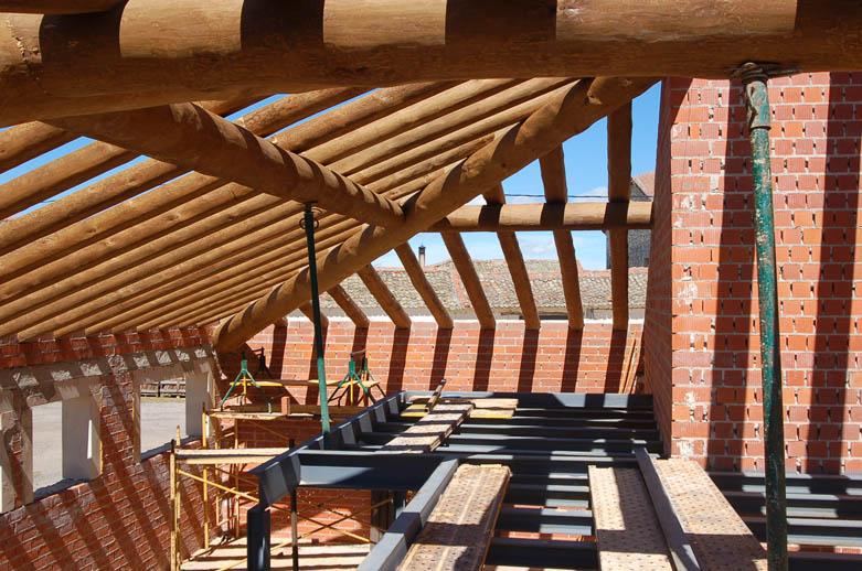 Detalle cubierta Rehabilitacion vivienda en Riahuelas