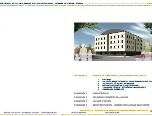 30 viviendas de protección oficial &#8211; Gicaman &#8211; Talavera de la Reina<br/><b>Primer premio</b>
