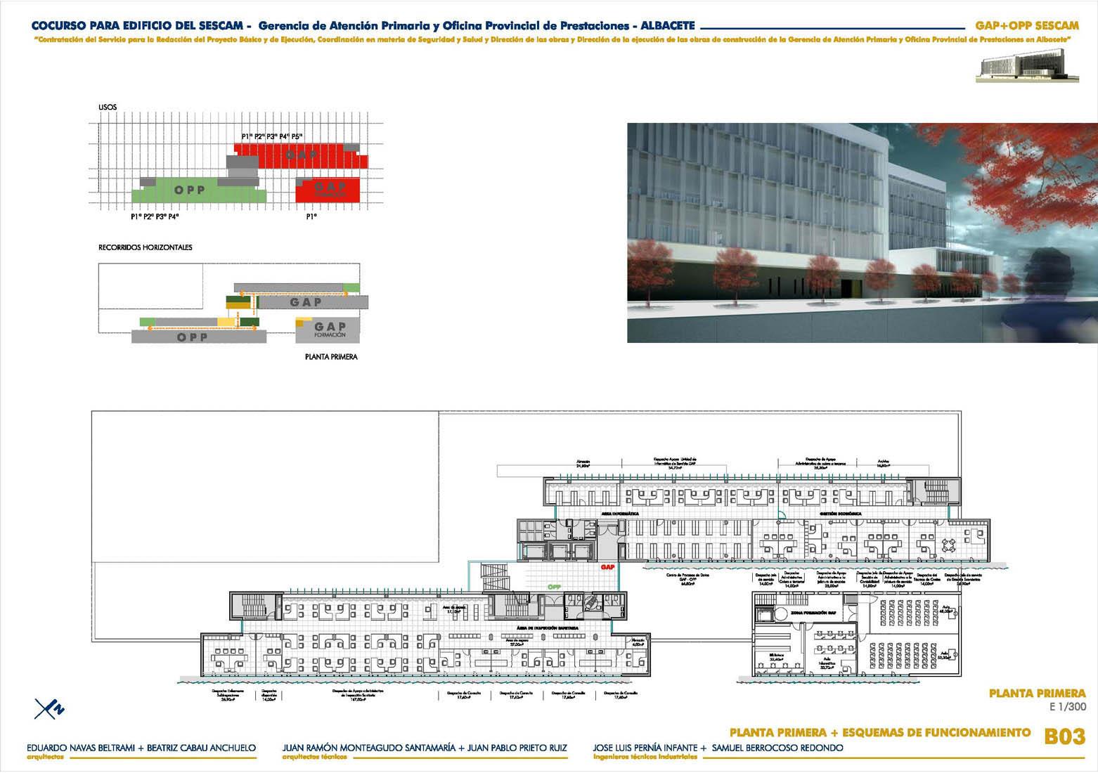 Beltrami cabau arquitectos sescam gerencia de atenci n for Oficina de prestaciones